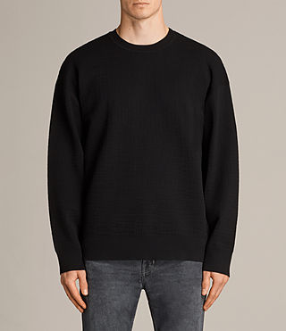 Men's Ander Crew Jumper (Black) - Image 1