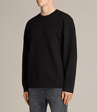 Men's Ander Crew Jumper (Black) - Image 3