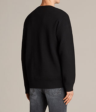 Men's Ander Crew Jumper (Black) - Image 4