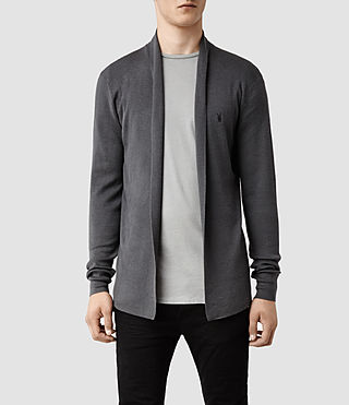 Hombres Mode Merino Open Cardigan (Shadow) -