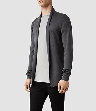 Hombres Mode Merino Open Cardigan (Shadow) - product_image_alt_text_2