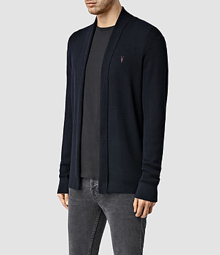 Mens Mode Merino Open Cardigan (Ink) - Image 2