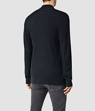 Mens Mode Merino Open Cardigan (Ink) - product_image_alt_text_3