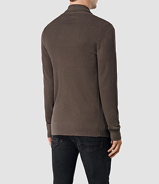 Uomo Mode Merino Open Cardigan (Pewter Brown) - product_image_alt_text_4