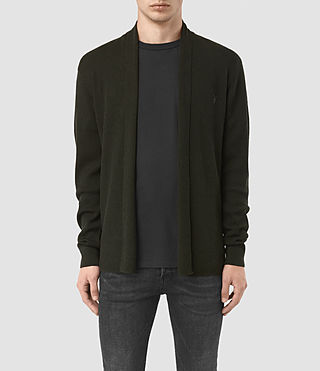 Hombres Mode Merino Open Cardigan (Shadow Green) -