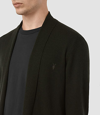 Hombres Mode Merino Open Cardigan (Shadow Green) - product_image_alt_text_2