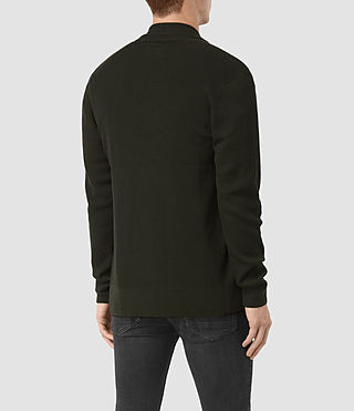 Hombres Mode Merino Open Cardigan (Shadow Green) - product_image_alt_text_4