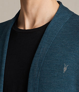 Mens Mode Merino Open Cardigan (UNIFORM BLUE) - product_image_alt_text_2