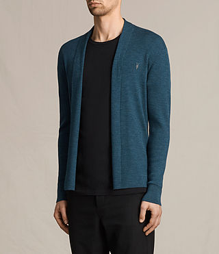 Herren Mode Merino Open Cardigan (UNIFORM BLUE) - product_image_alt_text_3