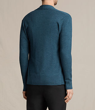 Mens Mode Merino Open Cardigan (UNIFORM BLUE) - product_image_alt_text_4