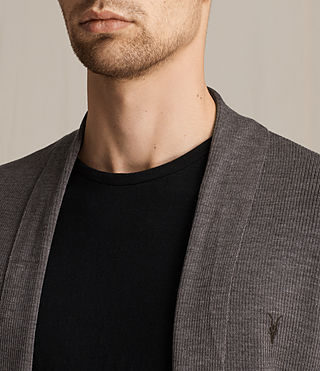 Hommes Cardigan Mode Merino (COAL GREY MARL) - product_image_alt_text_2