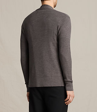Mens Mode Merino Open Cardigan (COAL GREY MARL) - product_image_alt_text_4