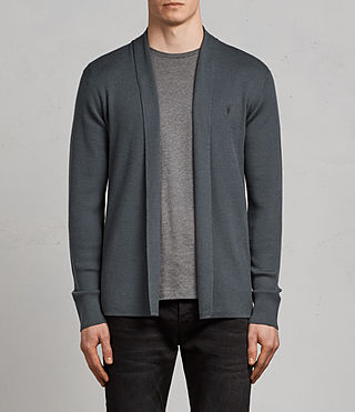 Hommes Cardigan Mode Merino (FLINT GREEN) - Image 1