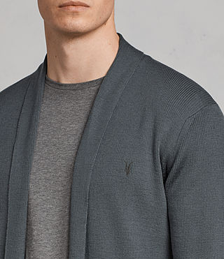 Hombre Mode Merino Open Cardigan (FLINT GREEN) - product_image_alt_text_2