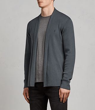 Hombre Mode Merino Open Cardigan (FLINT GREEN) - product_image_alt_text_3