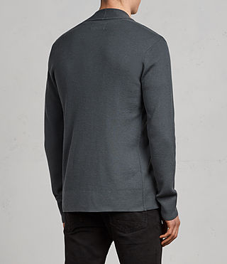 Hombre Mode Merino Open Cardigan (FLINT GREEN) - product_image_alt_text_4