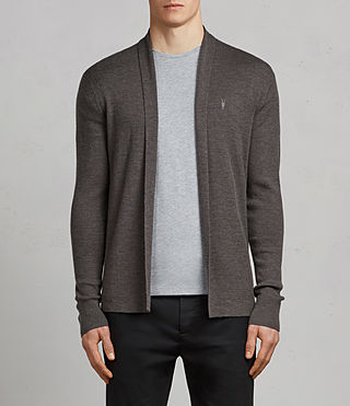Men's Mode Merino Open Cardigan (HEATH GREY MARL) - Image 1