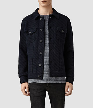 Mens Arian Knitted Jacket (Ink)