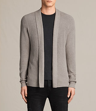 Herren Esk Cardigan (PUTTY GREY MARL) -
