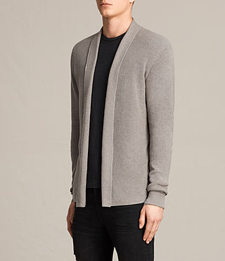 Herren Esk Cardigan (PUTTY GREY MARL) - product_image_alt_text_2