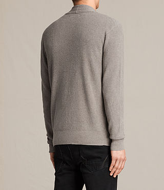 Hommes Esk Cardigan (PUTTY GREY MARL) - product_image_alt_text_3