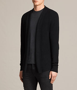 Men's Esk Cardigan (Black) - product_image_alt_text_2