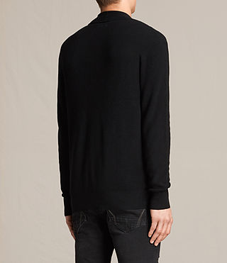 Men's Esk Cardigan (Black) - product_image_alt_text_3