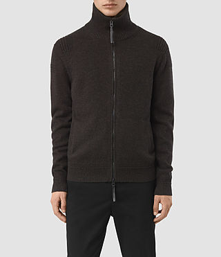 Hommes Mavven Zip Through Jumper (BITTER BLACK MARL)