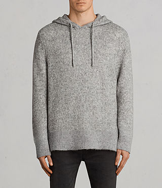 Men's Harnden Knitted Hoody (Grey Marl) - Image 1