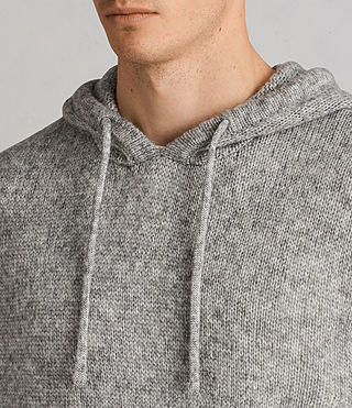 Men's Harnden Knitted Hoody (Grey Marl) - Image 2