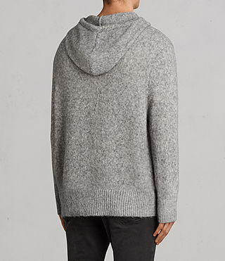 Men's Harnden Knitted Hoody (Grey Marl) - Image 4