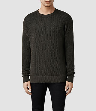 Mens Hildre Crew Sweater (Khaki)