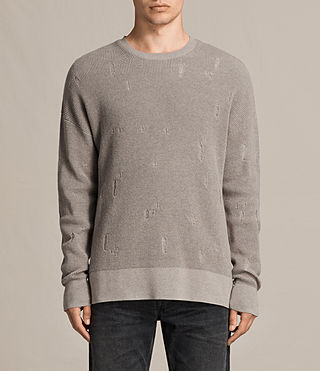 Hombre Jersey de manga larga Forram Crew (PUTTY GREY MARL) - product_image_alt_text_1