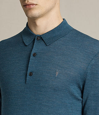 Hombres Mode Merino Polo Shirt (UNIFORM BLUE) - product_image_alt_text_2