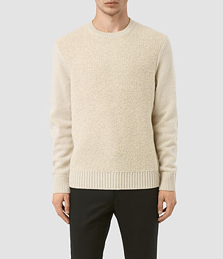 Mens Drammen Crew Sweater (Ecru)