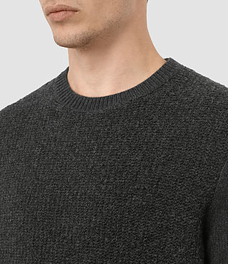 Mens Drammen Crew Sweater (Charcoal Marl) - product_image_alt_text_2