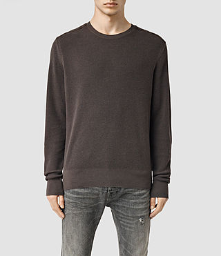 Men's Bram Crew Jumper (Khaki Brown)