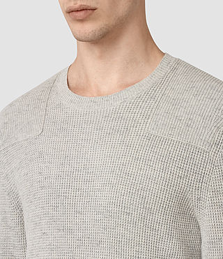 Mens Elne Crew Sweater (Grey Marl)