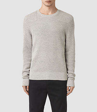 Men's Elne Crew Jumper (Grey Marl) - product_image_alt_text_2