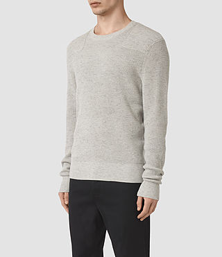 Men's Elne Crew Jumper (Grey Marl) - product_image_alt_text_3