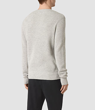 Men's Elne Crew Jumper (Grey Marl) - product_image_alt_text_4