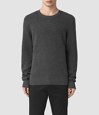 Mens Elne Crew Sweater (Charcoal Marl)