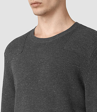 Hommes Pull Elne (Charcoal Marl) - product_image_alt_text_2