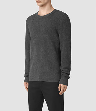 Hommes Pull Elne (Charcoal Marl) - product_image_alt_text_3