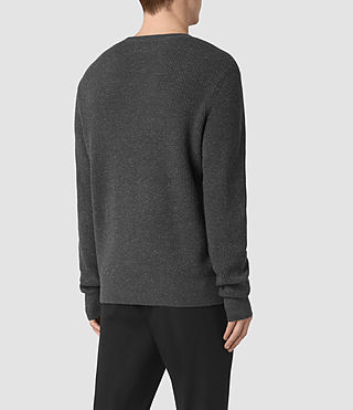 Hommes Pull Elne (Charcoal Marl) - product_image_alt_text_4