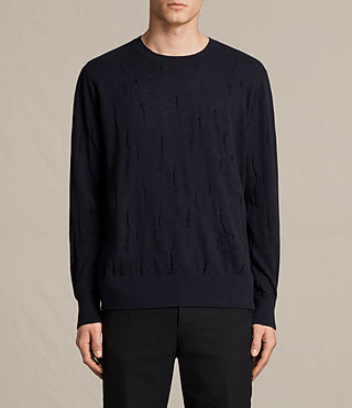 Mens Emms Crew Sweater (INK NAVY) - product_image_alt_text_1