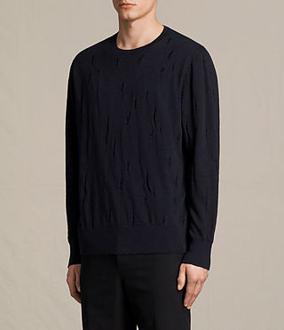 Mens Emms Crew Sweater (INK NAVY) - product_image_alt_text_3