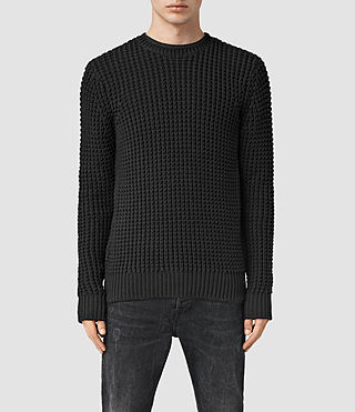 Men's Rok Crew Jumper (Black) -