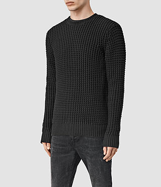Men's Rok Crew Jumper (Black) - product_image_alt_text_2