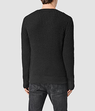 Men's Rok Crew Jumper (Black) - product_image_alt_text_3